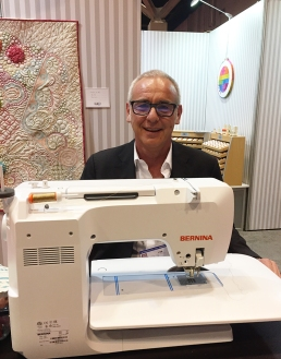 Alex taking a turn at the Bernina!
