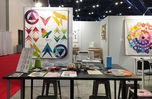 Aurifil Booth at Fall Quilt Market, 2017