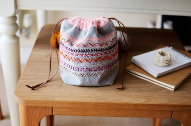 Colorwork pouch from Stitch And Sew book by Aneela Hoey_1000