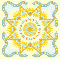 """Mellow Yellow Glacier"" - Glacier Star pattern"