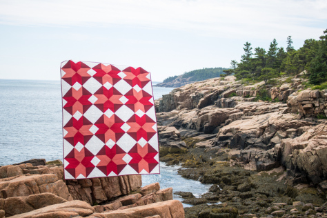 Starlight Crystals by Yvonne Fuchs for the Quilter's Planner 2017 in Acadia National Park, ME