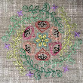 Embroidery Mandala by Jo Avery, pattern by Carina Envoldsen-Harris - myBearpaw