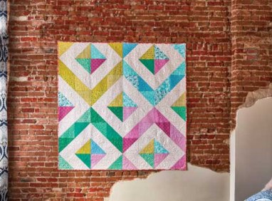 Half Square Triangles Quilt - image by F+W Media