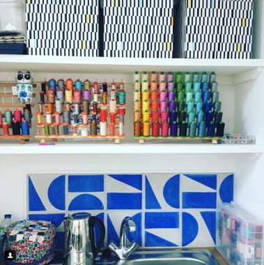 Jenni's Studio Interior - @jennismithsews