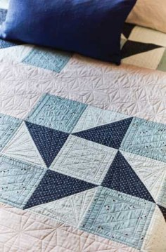 Simple Star Quilt Detail - image by F+W Media