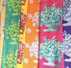 Stone Flower Print, Free Spirit Fabrics - @kaffefassettstudio