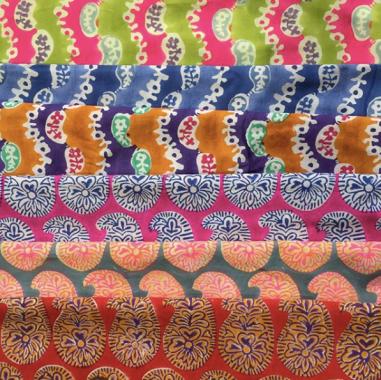 Prints from Wiggle and Sasha! via Free Spirit Fabrics - @kaffefassettstudio