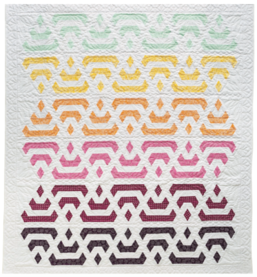 Misty Morning, 78 ̋ × 90-1/2 ̋, designed and pieced by Sheila Christensen, quilted by Sue Burnett