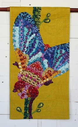 2018 Best Use of Aurifil, 2nd Place: Kim Bowory - Fly Bejeweled