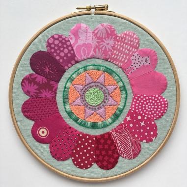 Mini Dresden Embroidery Hoop Art by Jo Avery
