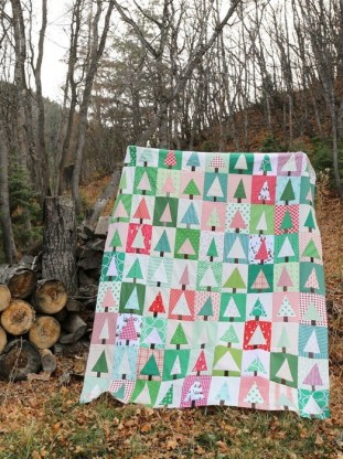 Improv Patchwork Trees by Amy Smart