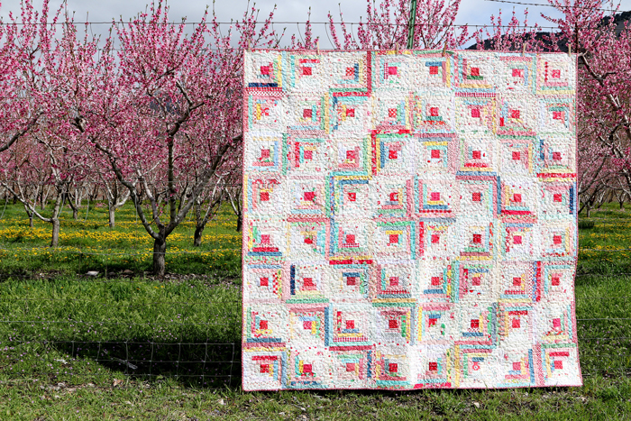 Vintage Inspired Log Cabin Quilt by Amy Smart